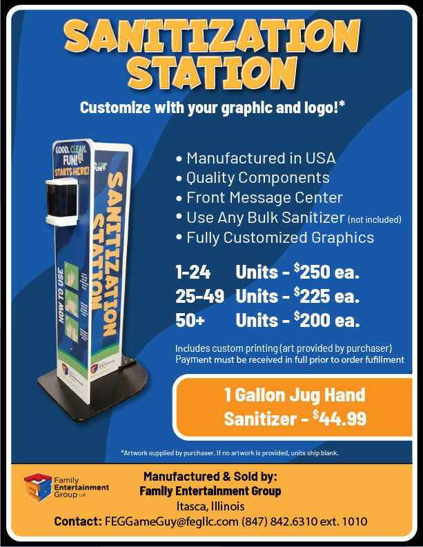 FEG created custom sanitization stations for all of our locations
