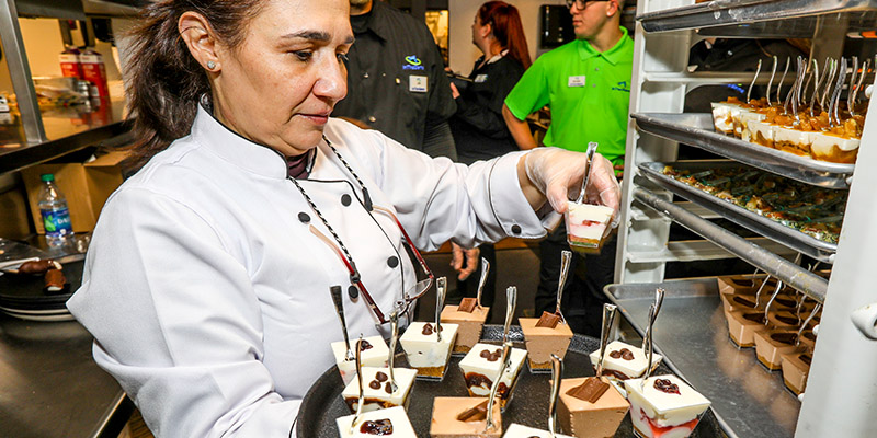 Chef Anna Firmani brings her talents to the grand opening of our In The Game Peabody location