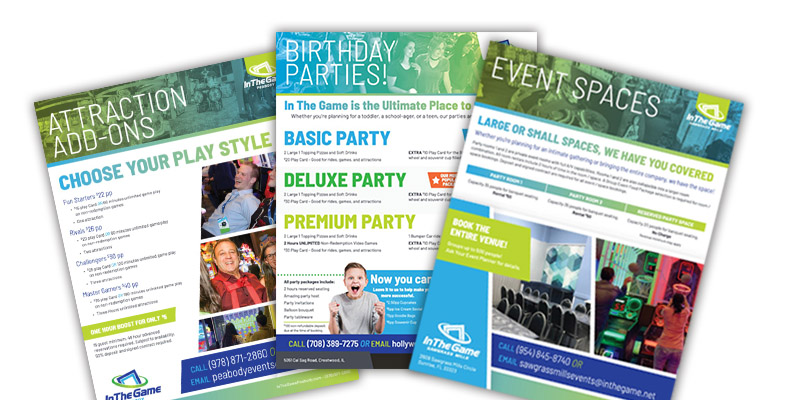 Customized flyers and brochures will set your FEC apart from the competition
