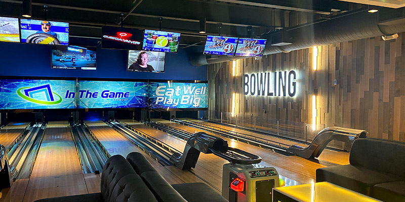 Boutique bowling with custom graphics will add to your facility
